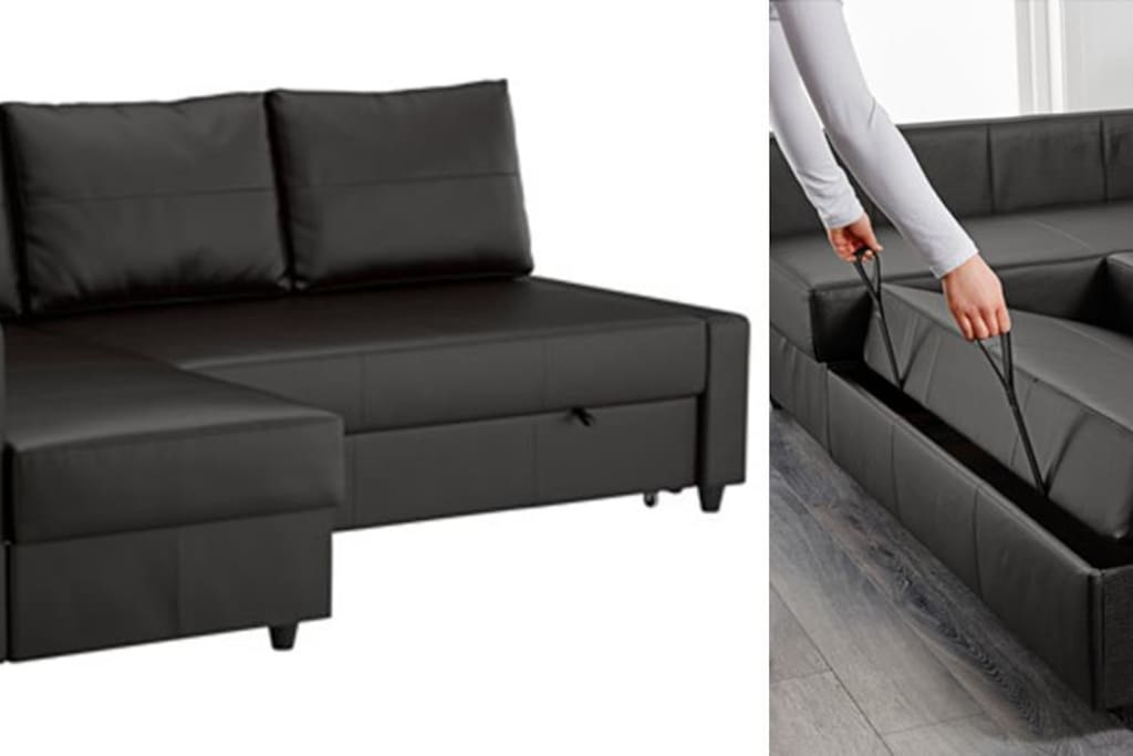 Living room's sofa bed. (Pictures from Ikea's website)