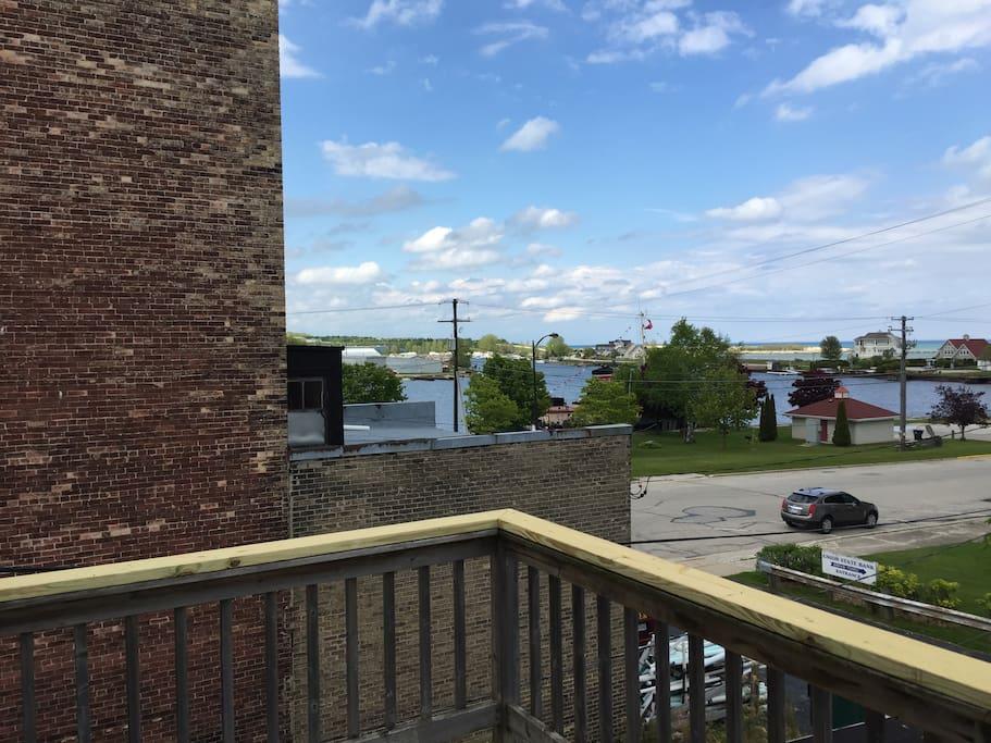 Beautiful Lake Michigan views from private deck