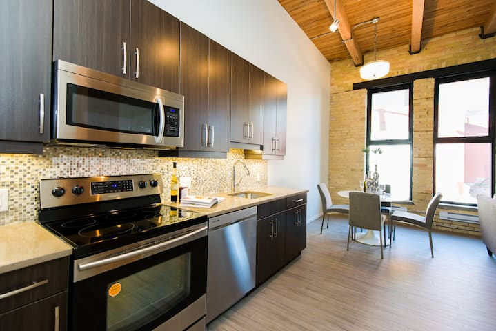 Urban Loft 1BR - Exchange District - Winnipeg - Selveierleilighet