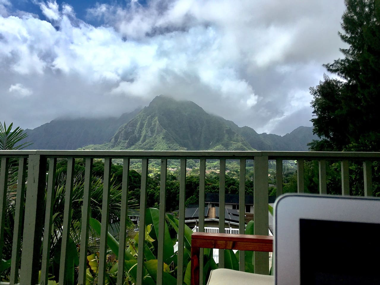 Working from the lanai