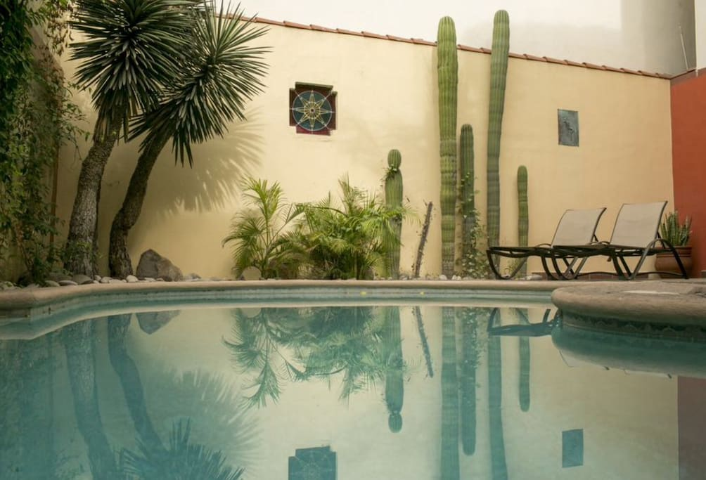 The privacy of the large pool is one of  the highlights of Casa Hidalgo.