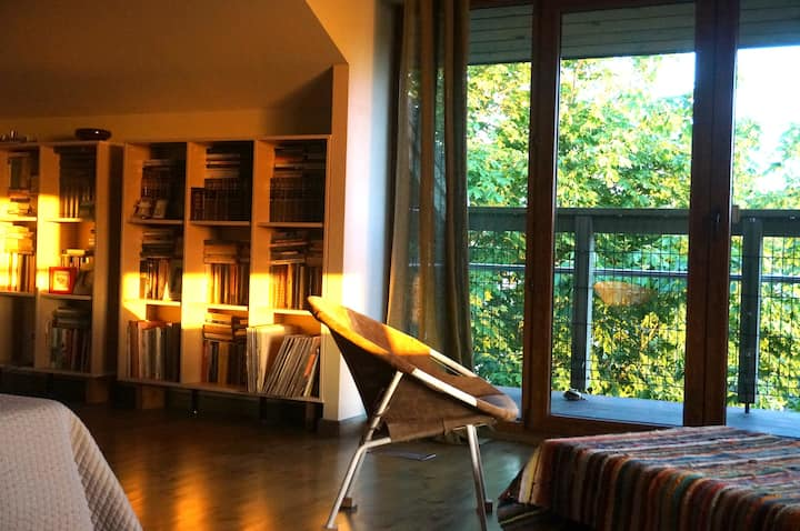 Sunny penthouse studio near the Sea
