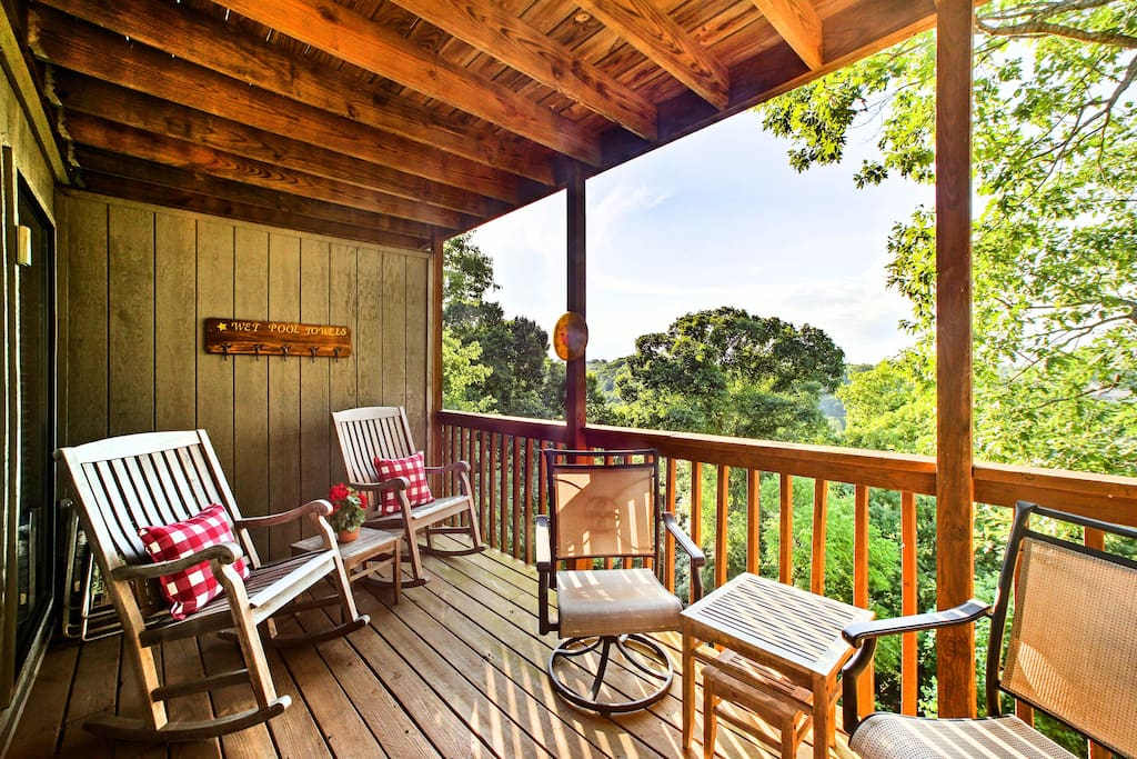 Enjoy incredible views of the woods during your stay!