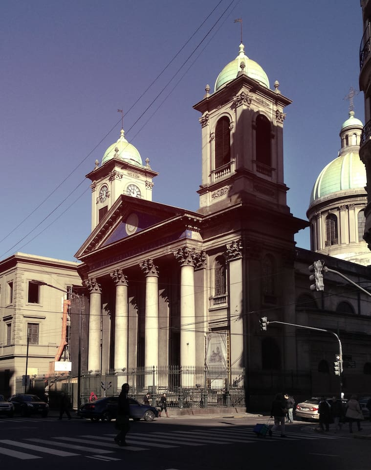 Just in the corner of the appartment: Iglesia del Salvador.