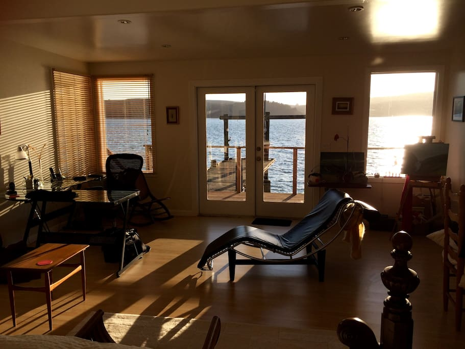 Large master bedroom with bay view