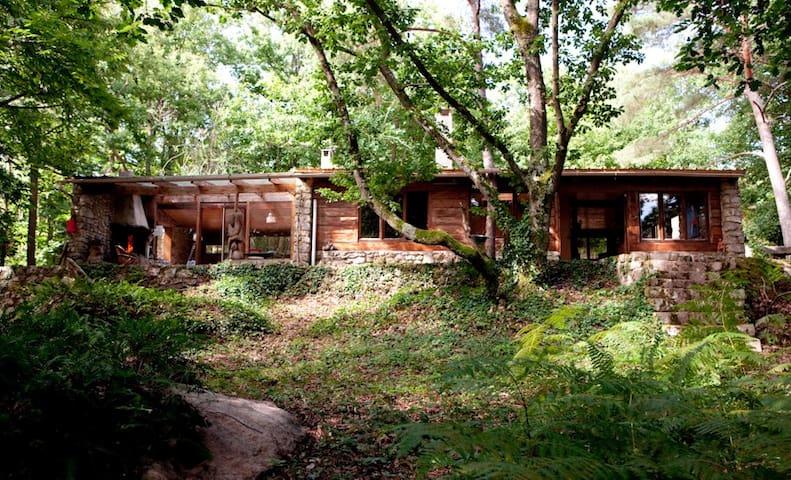 Grande cabane forêt /éco-yogagite/ 8-10 p. l'hiver