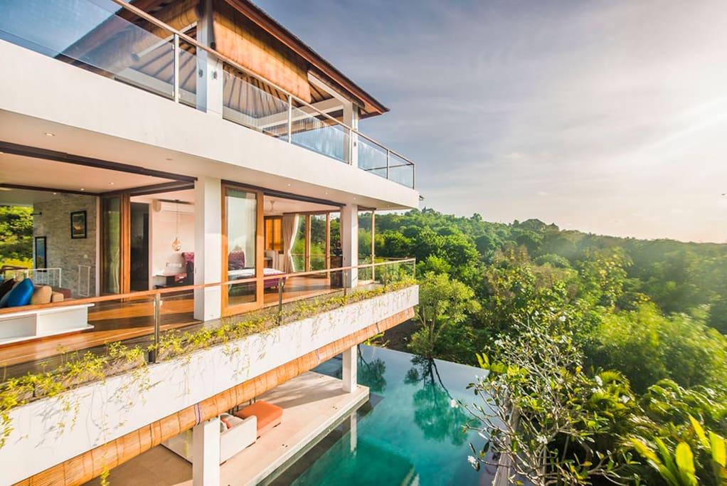 Stylish hidden villa with driver ville in affitto a for Piani a pianta aperta