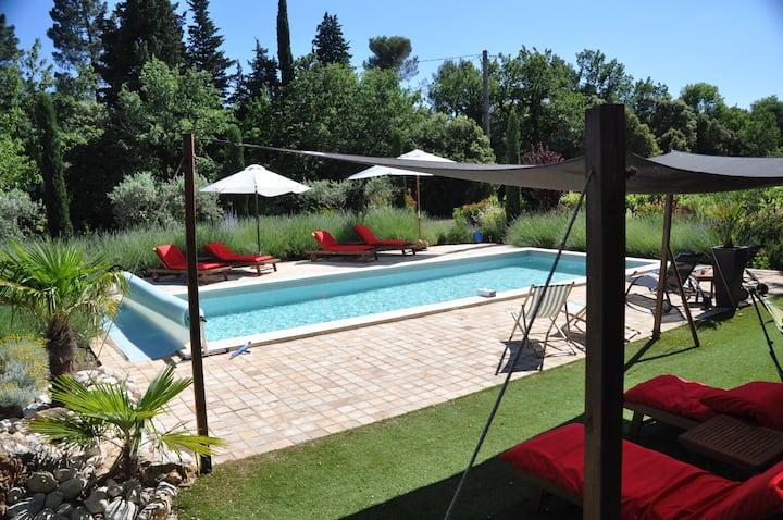 Charming B&B (Rouge). Pool, Hot-Tub & Hammam