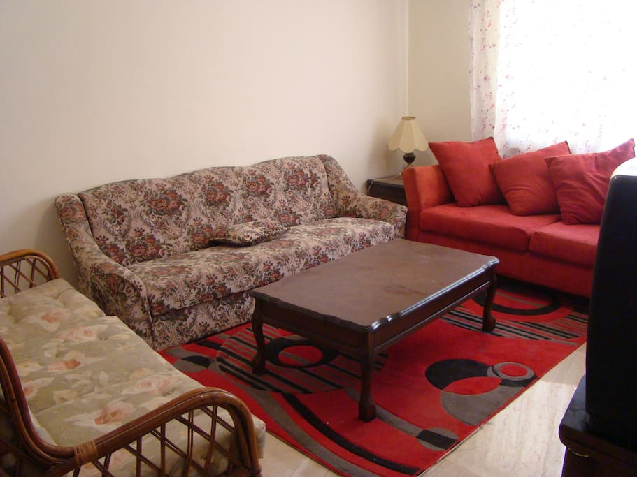 Furnished studio in university area apartments for rent for Living room amman