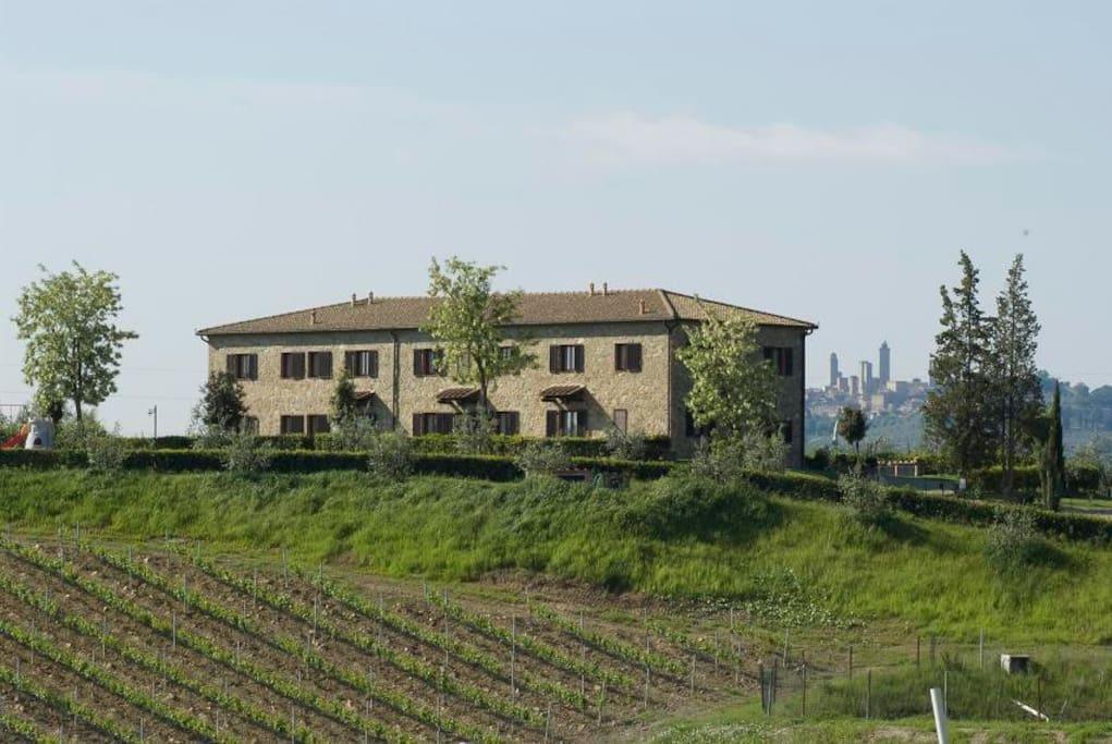 Agriturismo di fronte a San Gimignano