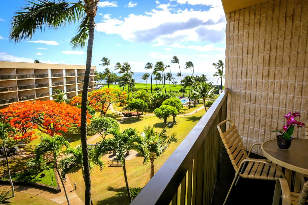 Enjoy the beautiful view from your private lanai.