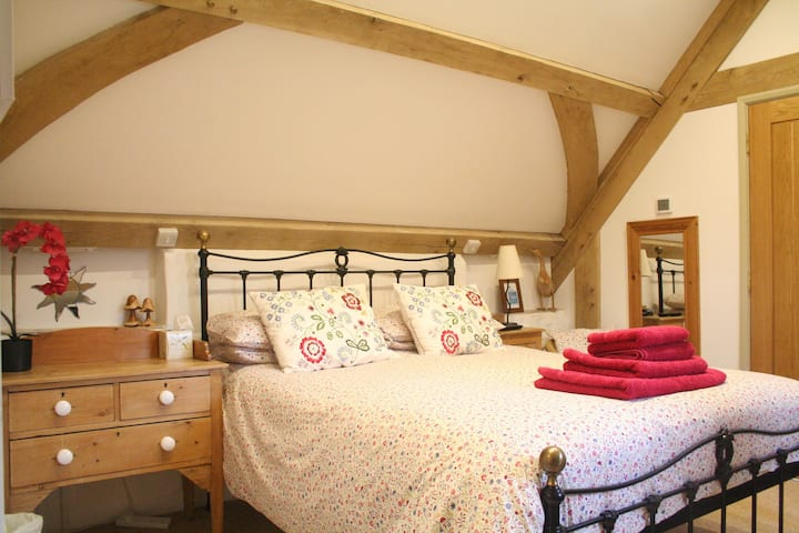 King size first floor room set on a working Farm