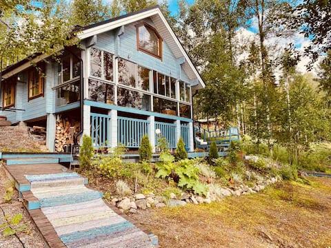 Casa de campo en el lago, 31 metros cuadrados + 2 lofts
