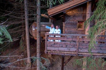 Cabane Mont-Blanc - sauna & jacuzzi - tout confort - Saint-Nicolas-la-Chapelle - Hus i træerne