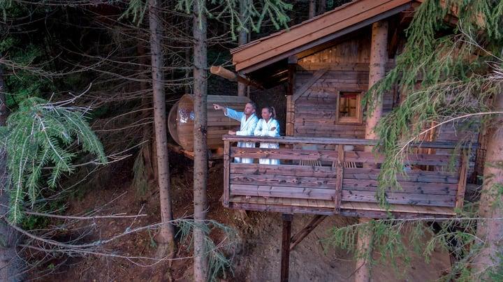 Cabane Mont-Blanc avec sauna & jacuzzi privatifs