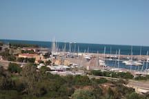 Vista  su area nautica  turistica Porto Corallo - Villaputzu