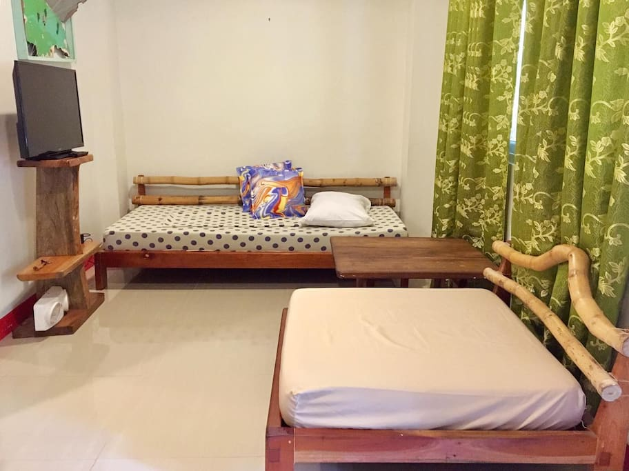 Living Room w/ 1 Single Bed & 1 Sofa Bed