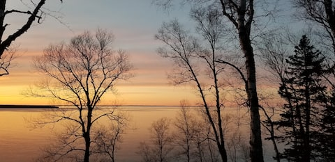 """Waterfront Lake Superior's South Shore, """"Sky Fire"""""""