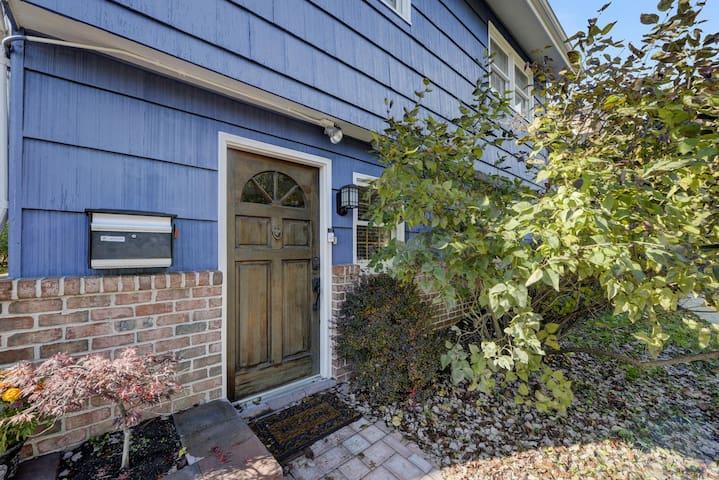 Front Door of The Blue House