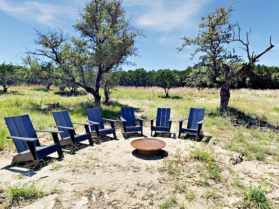 Check out the stars while surrounding the firepit