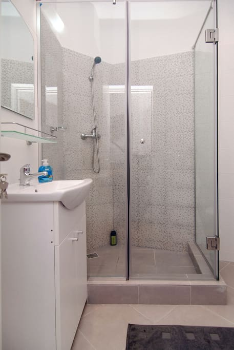 Bathroom with modern shower