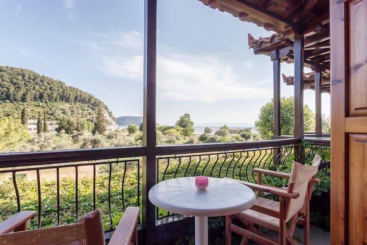Sea View*Elios*Skopelos❤️22❤️Kitchen*WiFi*Parking! - Neo Klima, Elios, Skopelos, Sporades, Magnesia  - Apartment