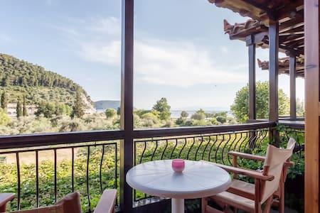 22_❤️Sea View*Couple's*Kitchen*WiFi*Parking! - Neo Klima Elios Skopelos Sporades Magnesia  - Apartament