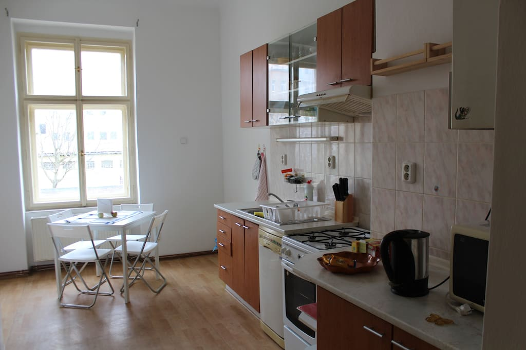 This is the kitchen where you can get some coffee, tea, or snacks.