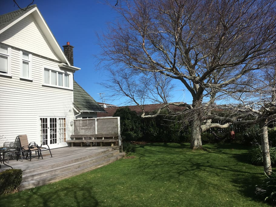 Deck and Front Lawn
