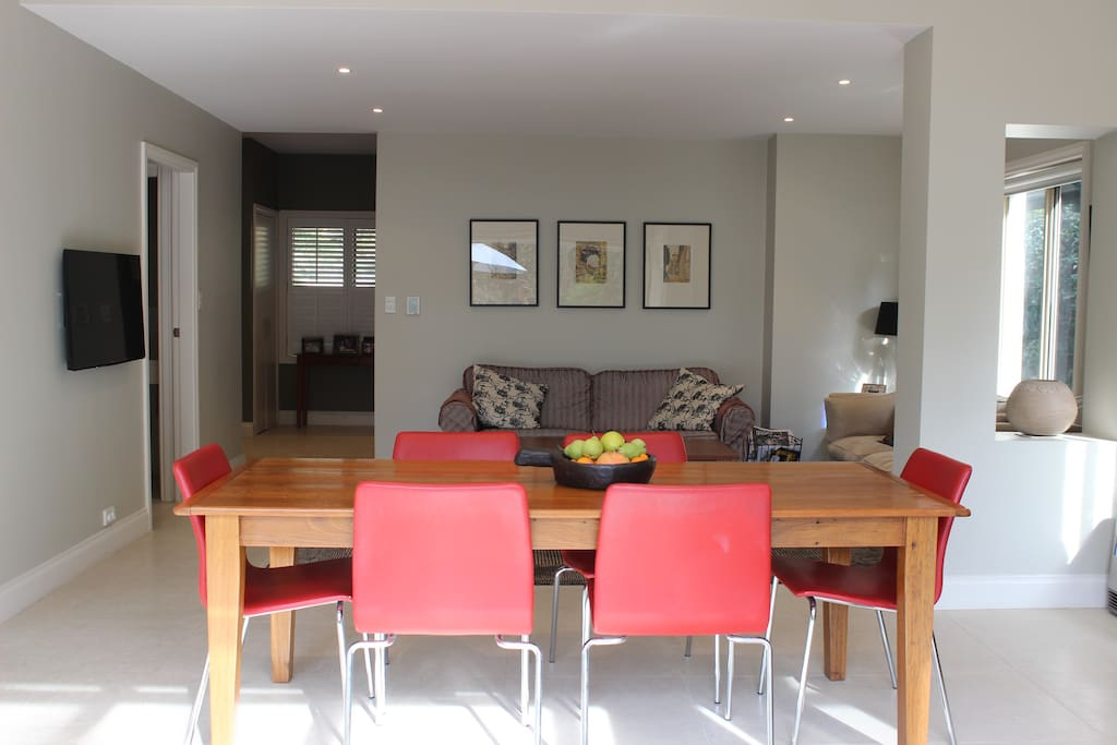 Open plan dining and living area