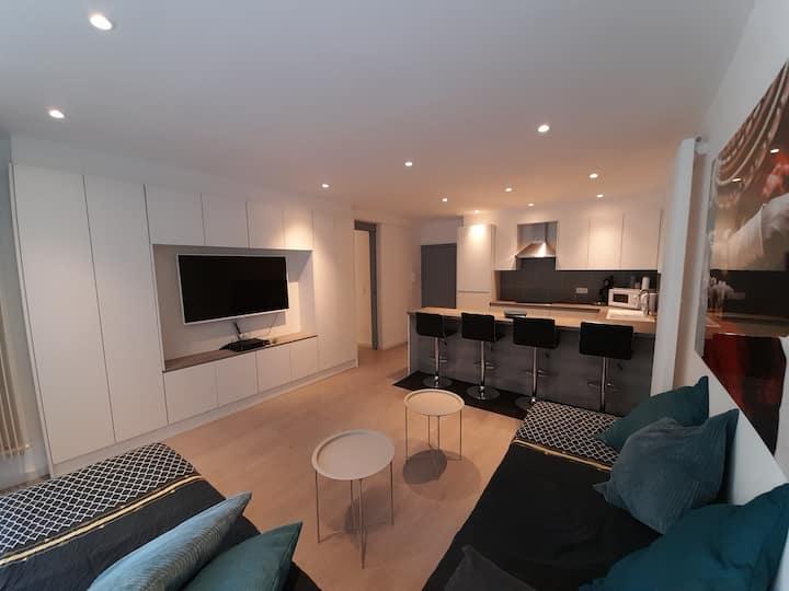 appartement 4p 🏖🏞♨️🚊100m/🚄 5'/ Brugge 25'/wifi