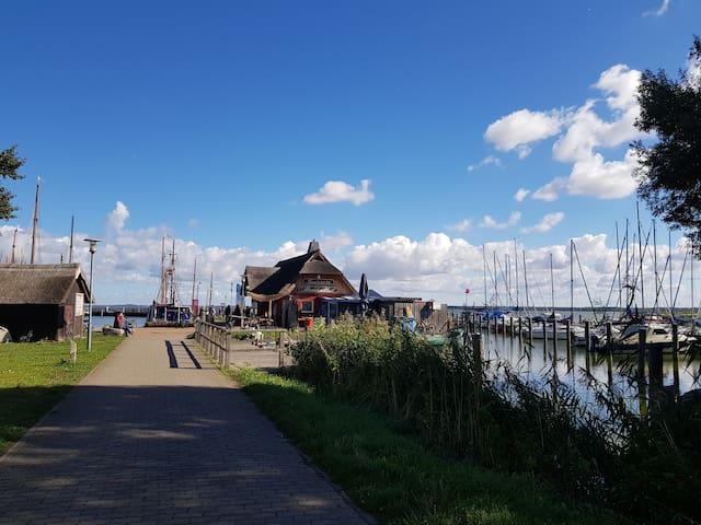 Dierhäger Hafen mit Fischgaststätte