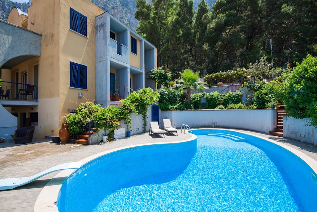 Amazing House Swimming Pool Seaview Flats For Rent In Palermo Sicilia Italy
