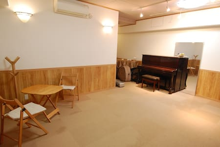It is by the Tama river and just 2 minutes from Futakoshinchi station.