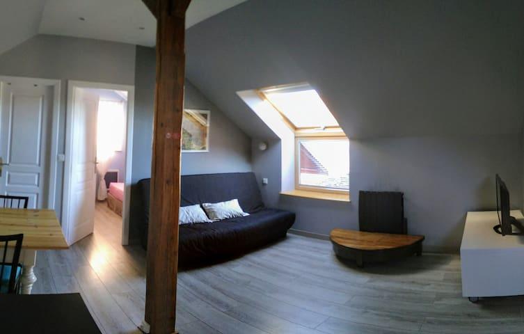 Grand studio meublé