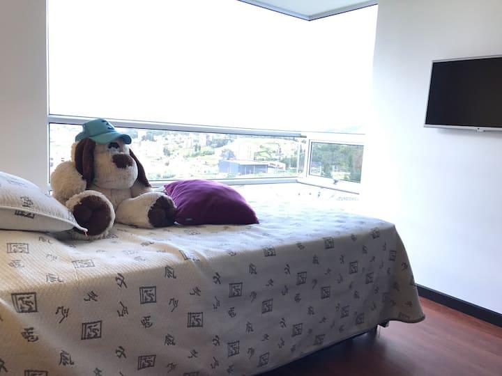 Habitación espectacular penthause tunja piso 28