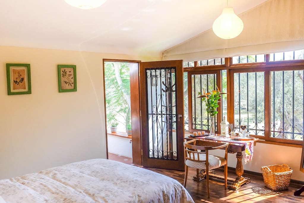 Very large bright and airy room with fresh oxygen delivered right to your door