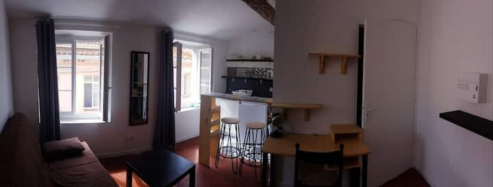 Studio style ancien-rénové, hyper-centre Perpignan