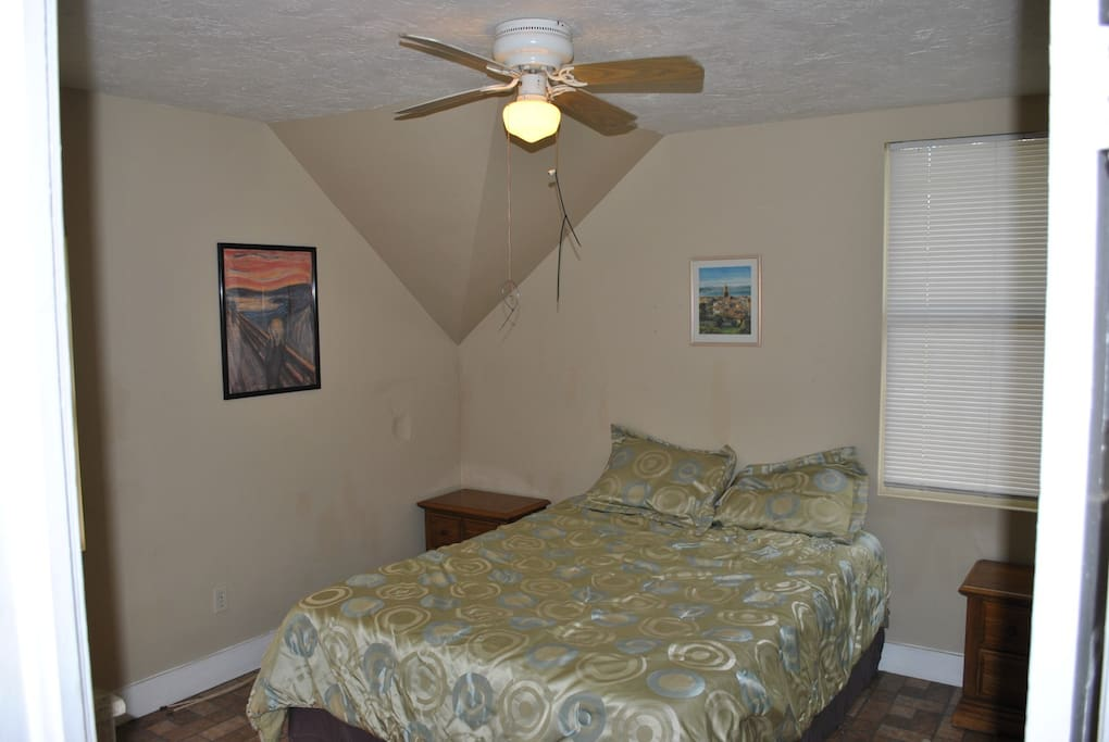 Bedroom 1 - 1 Queen and 2 nightstands