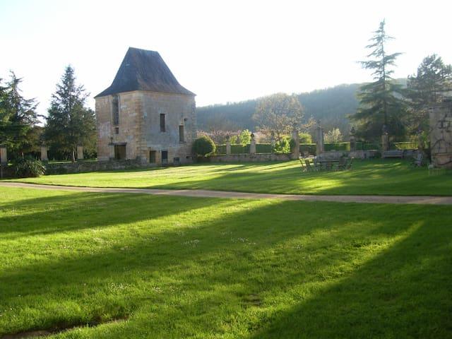 In a private castle near Lascaux.
