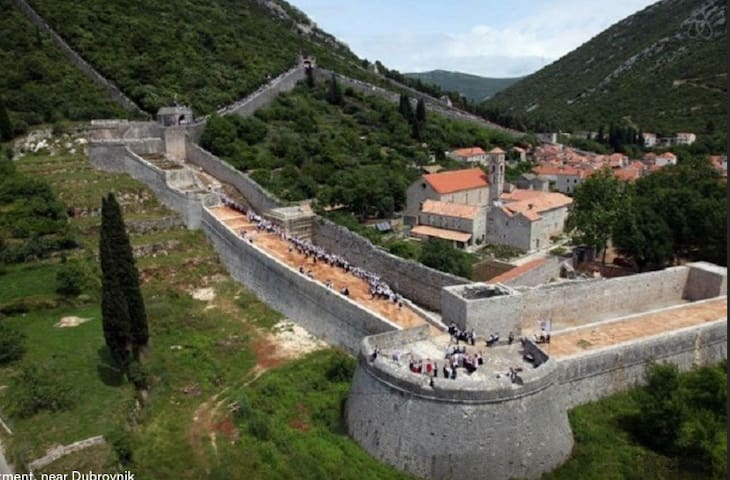 Ston fortress is longest fortress in the world after Chinese wall.