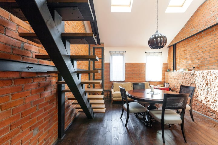 Cosy two-storey loft apartment near Moscow center