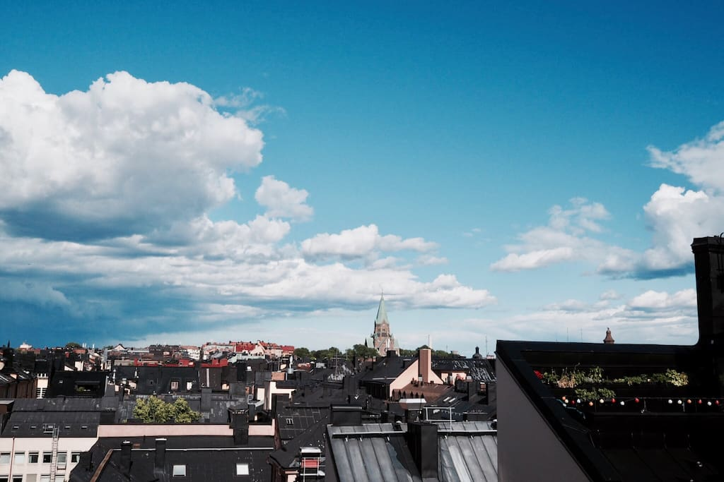 Amazing balcony view over SoFo, Södermalm