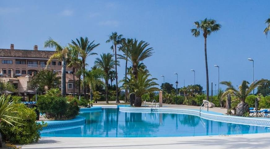 Beach complex duplex (5 m to Cádiz) - WIFI - 6pax - San Fernando  - Casa