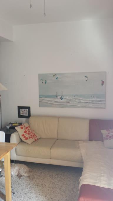 Salón, sofá rinconera