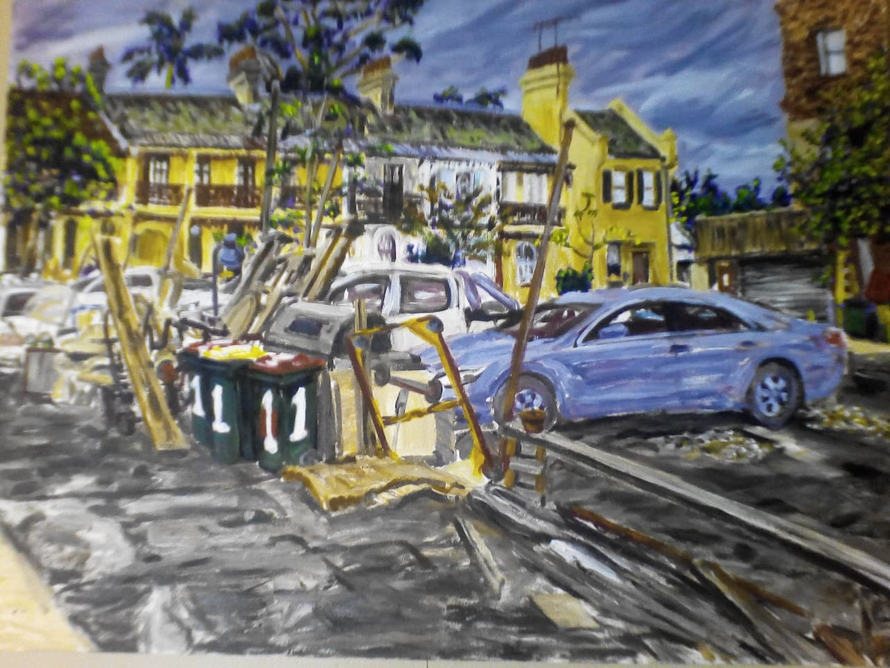 Junkyard Studio John O'Driscoll 2016  (Oil on Canvas)