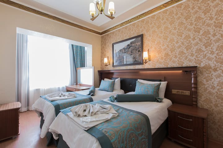 twin bed room- in Sultanahmet