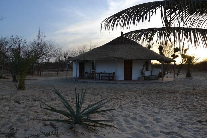 Jolie case familliale en bord de plage