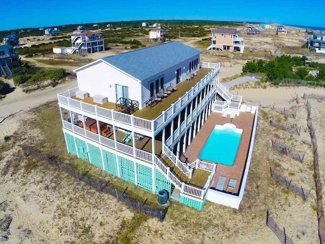 Family 4x4, Beach, Pool, Hot Tub, Theater, Sun-Sun - Corolla - House
