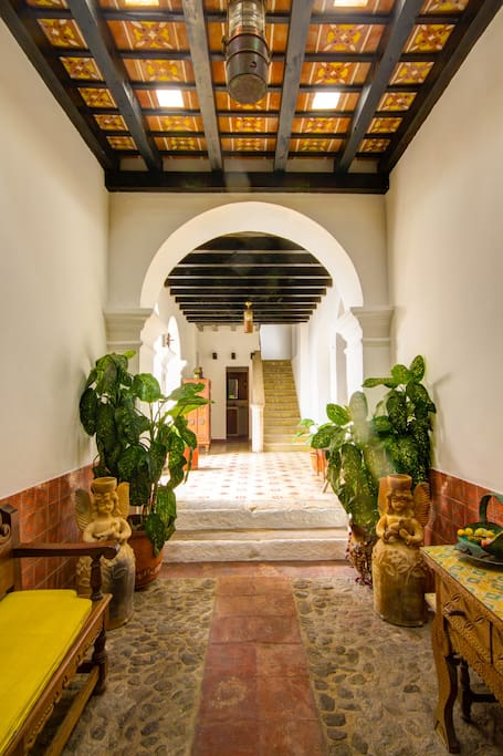 Casa Blanca's main entrance. The house is just two blocks from Antigua's Central Park!